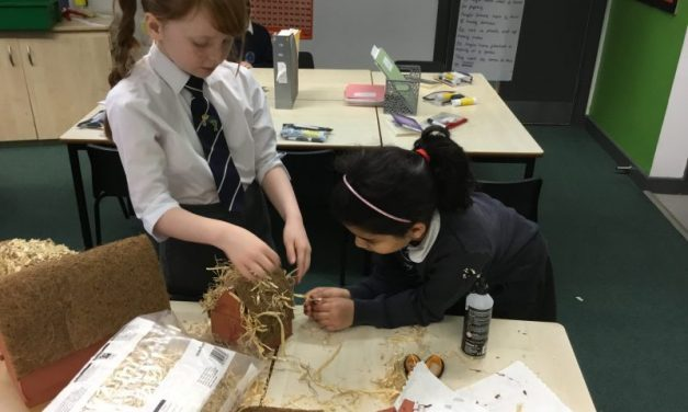 Putting the final touches on our Anglo-Saxon houses…