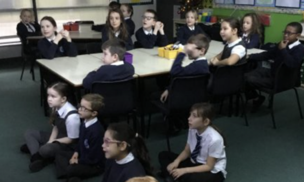 Year 4 practising hard for our Christmas Performance