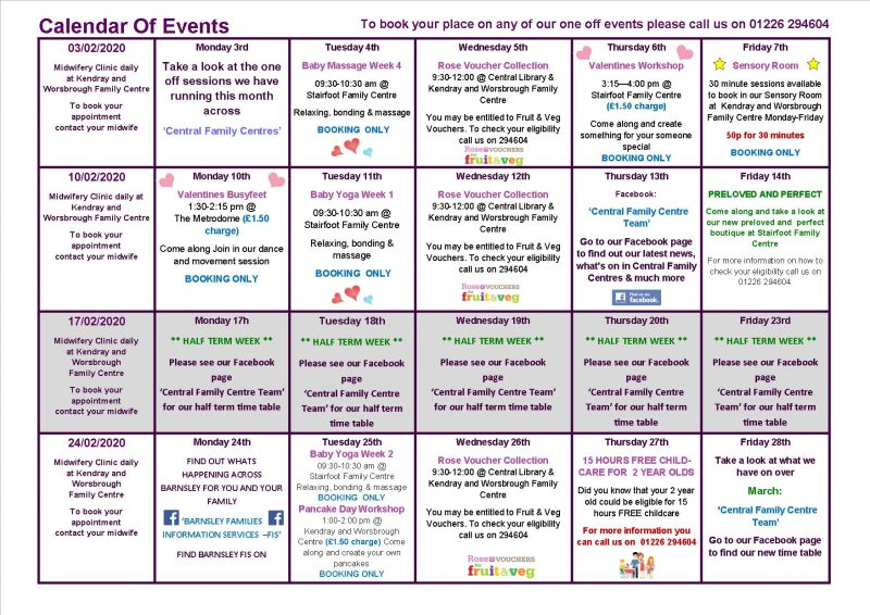 Community events in February